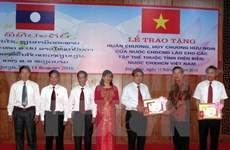 Dien Bien collectives awarded with Lao Friendship Order, Medal