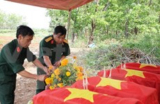 Dozen martyrs reburied in Thanh Hoa