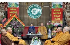 Party official hails Buddhist Sangha of Vietnam's national efforts