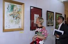 Paintings of General Giap displayed in Hanoi