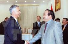 Deputy PM greets Swiss foreign affairs head