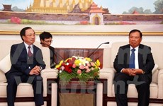 Party delegation welcomed by Lao leader