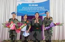 Defence leader greets UN Under-Secretary General