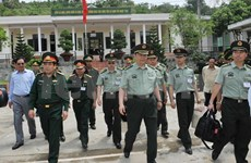 Chinese military delegation on visit