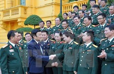 President Sang receives all-army emulation congress delegation