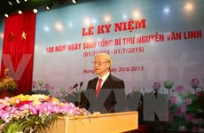 Nguyen Van Linh's 100th birth anniversary commemorated
