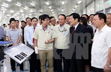 President inspects socio-economic situation in Thai Nguyen province