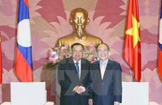 NA Chairman greets Lao Vice President