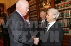 Party leader meets US lawmakers