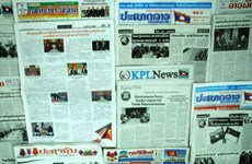 Lao newspapers cover Party leader's visit to US