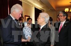 Party leader concludes US visit