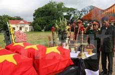 Remains of 18 volunteer soldiers returned to Vietnam