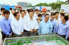 Chinese Vice Premier visits friendship palace construction site