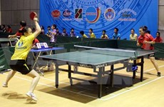 Int'l table tennis tournament begins in HCM City