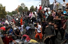 Cambodia supports victims of pagoda's dining hall collapse