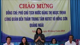 Vice President visits centre for disabled children in Quang Ngai