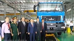 Belarus Deputy PM witnesses inauguration of Maz Asia auto plant