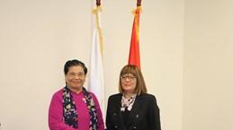 NA Vice Chairwoman meets top Serbian legislator
