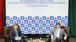 US Secretary of Defense gives speech at Diplomatic Academy
