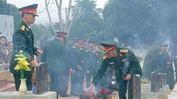 Reburial service held for soldier remains repatriated from Laos