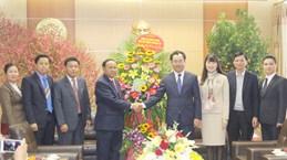 Lao delegation pays pre-Tet visit to Thai Nguyen