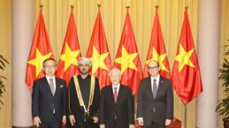 Top leader hosts new foreign ambassadors