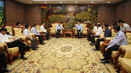 Vietnam News Agency's delegation pays working visit to Quang Tri