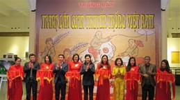 Folk paintings displayed in Hai Phong