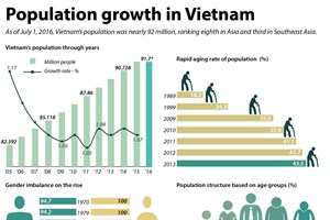 Population growth in Vietnam
