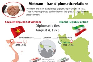 Overview of Vietnam - Iran diplomatic relations