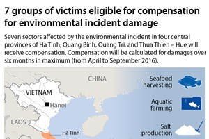 Seven victim groups compensated for environmental incident damage