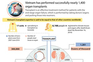 Vietnam performs successfully nearly 1,400 organ transplants