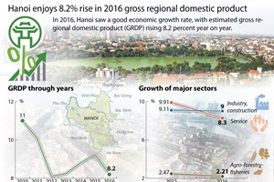 Hanoi enjoys 8.2 percent rise in 2016 GRDP