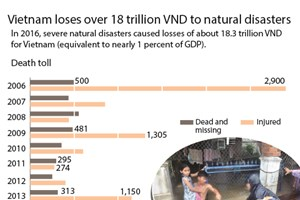 Vietnam loses over 18 trillion VND to natural disasters