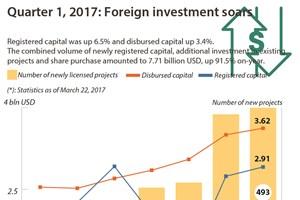 Quarter 1, 2017: Foreign investment soars