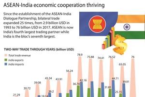 ASEAN-India economic cooperation thriving