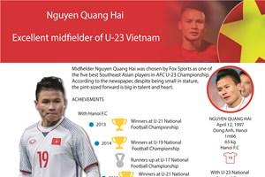 Nguyen Quang Hai - Excellent midfielder of U-23 Vietnam