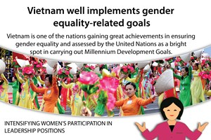 Vietnam well implements gender equality-related goals