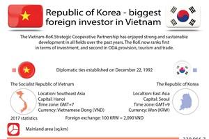 Republic of Korea - biggest foreign investor in Vietnam