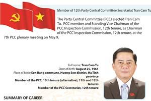 Member of 12th Party Central Committee Secretariat Tran Cam Tu