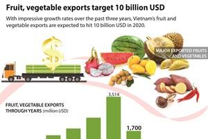 Fruit, vegetable exports target 10 billion USD