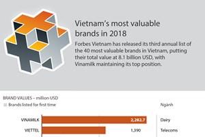 Vietnam's most valuable brands in 2018