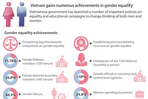 Vietnam gains numerous achievements in gender equality
