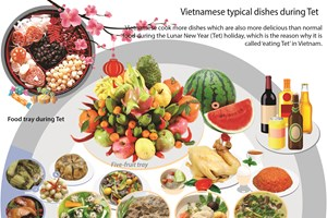 Vietnamese typical dishes during Tet