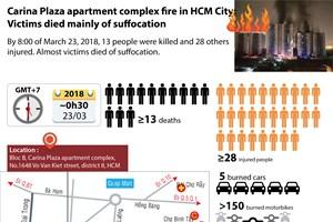 Carina Plaza apartment complex fire in Ho Chi Minh City