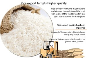 Rice export targets higher quality