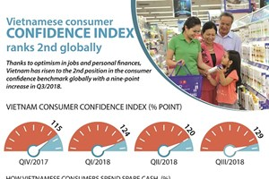 Vietnamese consumer confidence index ranks 2nd globally