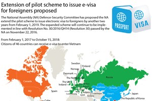 Extension of pilot scheme to issue e-visa for foreigners proposed