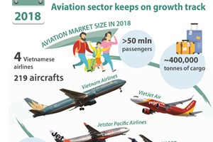 Aviation sector keeps on growth track