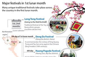 Major traditional festivals in 1st lunar month